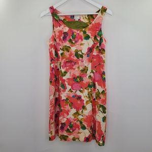 Anthro Postmark Blushing Olena Linen Floral Dress